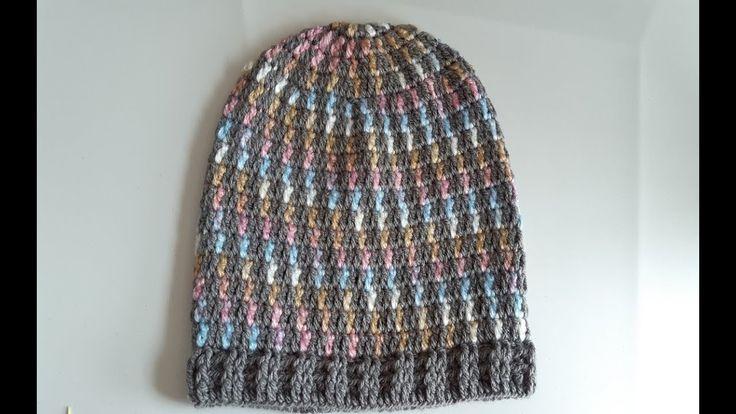 Gorro a crochet - tejido facil - punto fantasia a crochet o ganchillo f9cc290c809