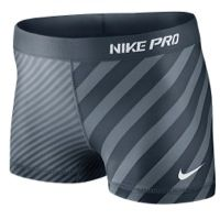 "nike compression shorts women | Nike Pro 2.5"" Compression Short - Women's - Grey / Grey im a large"