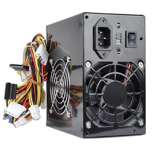 550W Watt ATX Black Beauty Power Supply 204 pin Dual SATA 2 Fans Logisys 535