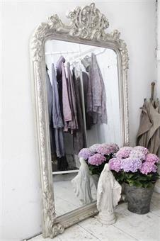 Stort fransk speil, french mirror, jeannedarcliving