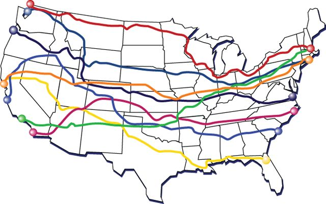 Cycle across America - Coast to Coast. I'd love to do these.