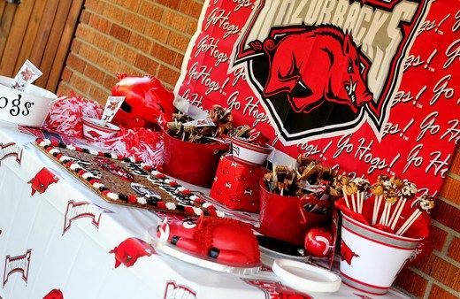 Football party, we'd do Red Wolves of course!!