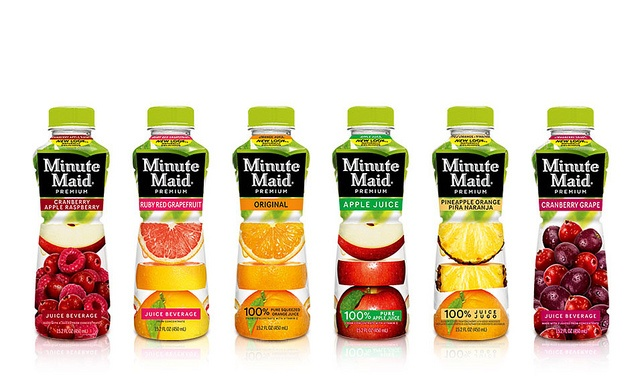 Minute Maid Juice to Go Bottle Packaging | Bottle packaging and Juice