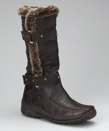 Take a look at this Dark Brown Polar Boot by Luxe Looks: Women's Shoes on @zulily today!