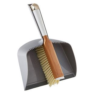 """Enjoy free shipping on all purchases over $75 and free in-store pickup on the Full Circle Dustpan & Brush Set at The Container Store. Sweeping can become frustrating when you're left with that annoying """"dirt line"""". Our Dustpan & Brush Set by Full Circle work together to make cleaning easier! The dustpan's rubber lip creates a flat surface for efficient dust removal, and the brush, complete with a scraper for stuck-on messes, can be cleaned with the dustpan's &quo..."""