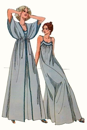 Love the sleeves on this vintage robe...need to find this sewing pattern!!