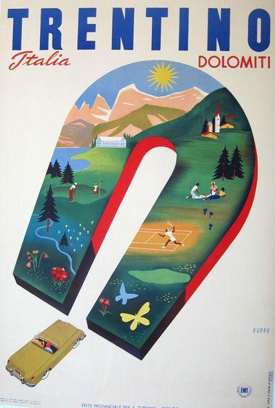 Trentino Dolomiti italy 1951  by Mario Puppo