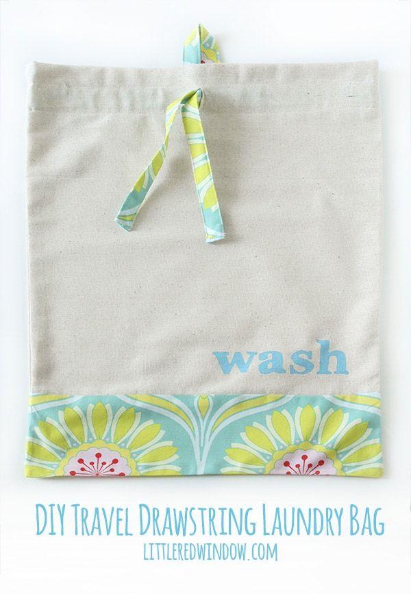 Diy Drawstring Travel Laundry Bag Little Red Window Travel