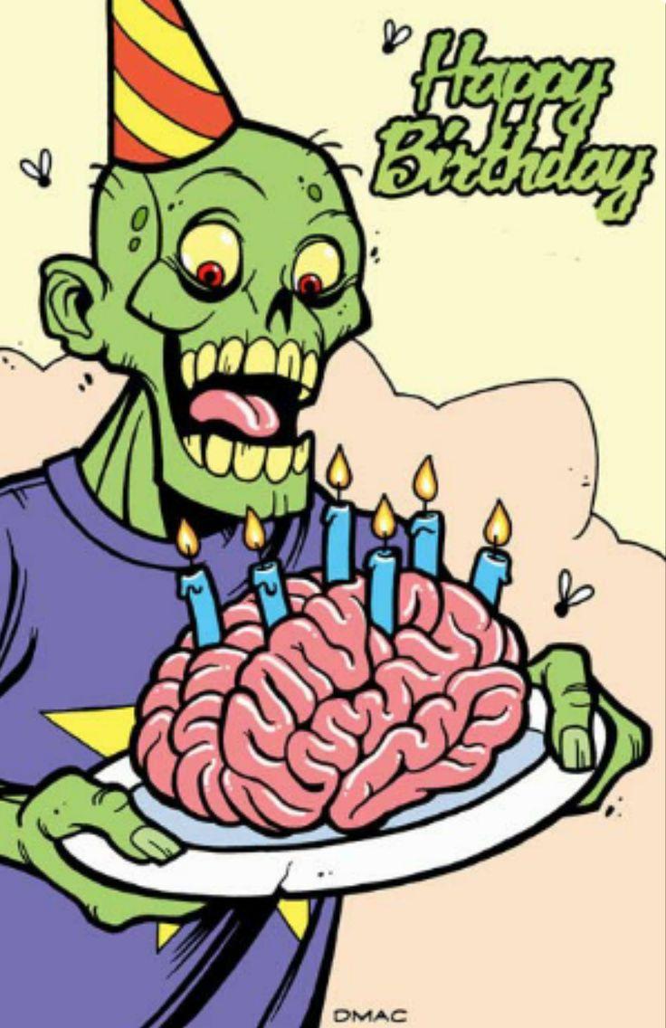 happy birthday zombie