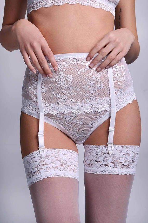 698051efad8 Pin by M.B.L on (1). White Garter Belts...