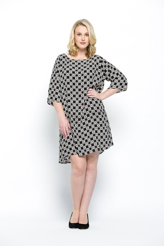 Loose fit shift dress. This product is made from Rayon and is machine washable (for full care instructions please see our product care page)  The model is 175cm