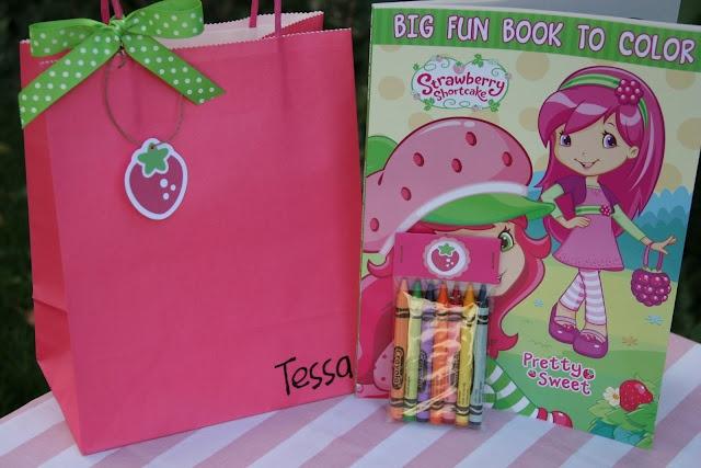 Strawberry Shortcake Party Take Home Bags