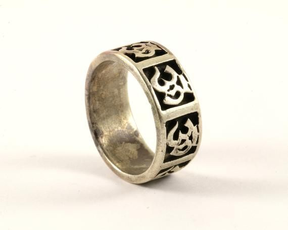 stamped 925 925 stackable band vintage Sterling silver handmade ring Size 7.5