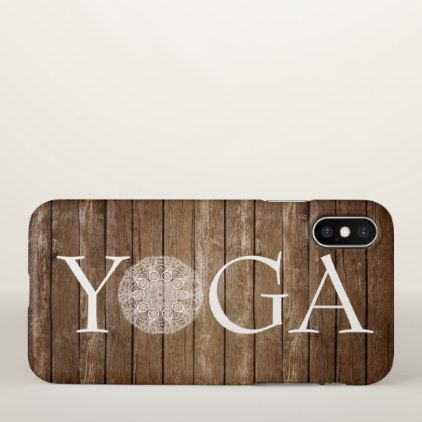 Yoga iPhone X Case - rustic style country natural diy customize personalize