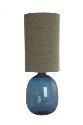 Ink Blue Glass Lamp from Idyll Home