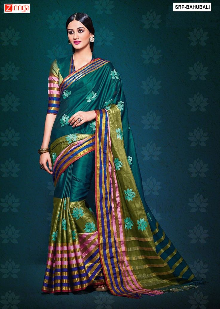 Women's Beautiful Cotton Silk Saree With Blouse #sarees #Fashion #Zinngafashion #offers #Collection #Looking #Offers #Deals #Looking #Amazing #Fridayoffers #Zinnga #New #popular #Trend