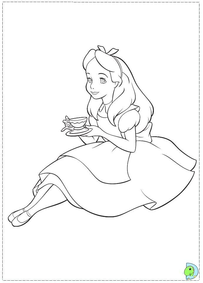 alice in wonderland 33 is a coloring page from alice in wonderland coloring booklet your children express their imagination when they color the alice in - Alice Wonderland Coloring Pages