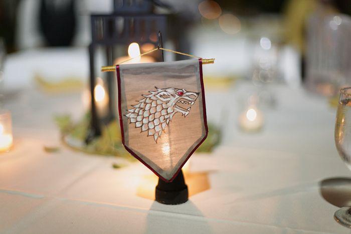 Adorable medieval game of thrones wedding decor