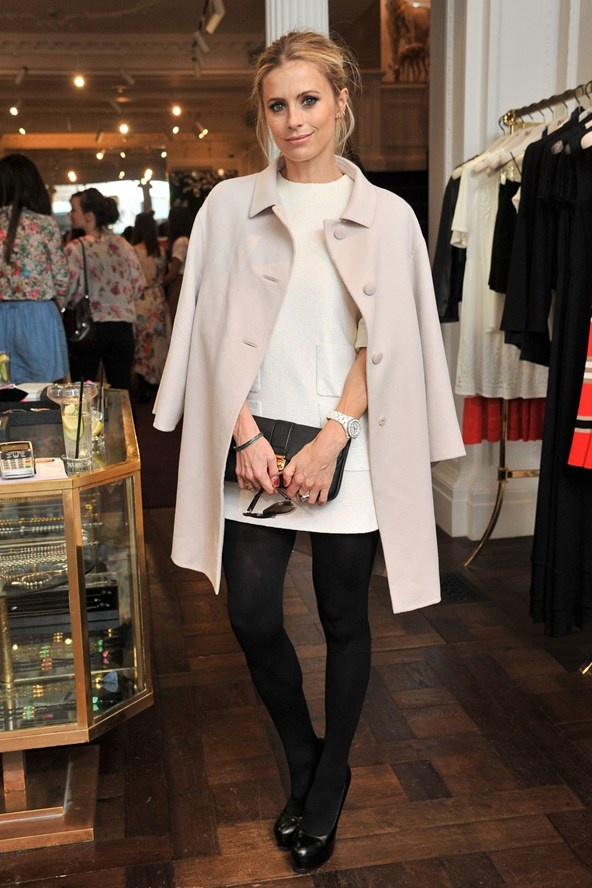 Pretty Temperley London coat on Laura Bailey