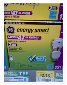 (Photo Credit: Sarah's Deals) Wow! Here's a high value light bulb coupon for ya! Just head on over here to print a high value $2/1 any GE Energy Smart CFL or Energy Efficient Soft White lighting product coupon. You can then take this coupon to Walmart to score the following deal… GE Energy Smart CFL [...]