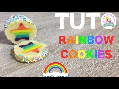 ♡• RECETTE BISCUITS ARC EN CIEL - HOW TO MAKE RAINBOW COOKIES RECIPE •♡ - YouTube