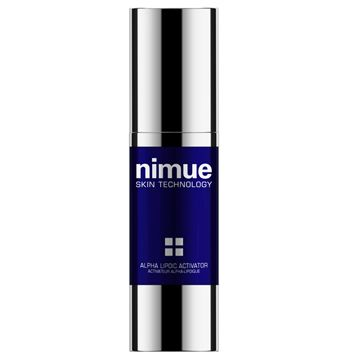 :: Nimue Skin Technology ::  Alpha Lipoic Activator  A day or night anti ageing booster skin treatment with a strong focus on antioxidation. Contains Alpha Lipoic Acid, Vitamin A, C and E Ester and DMAE.  Neutralises the destructive effects of free radical damage. Reduces the appearance of fine lines and wrinkles. Tightening effect on sagging skin. Revitalises dull, tired skin. Potent anti-inflammatory reducing redness and skin irritations due to environmental aggressions and lifestyle…