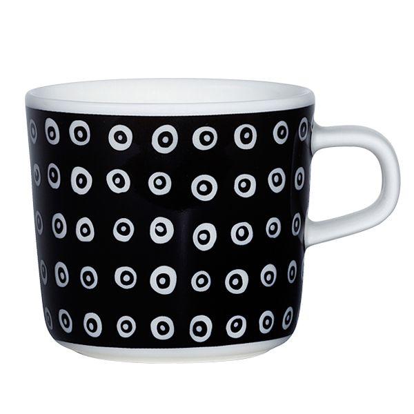 Oiva - Karakola glogg cup, 2,0 dl, black, by Marimekko.