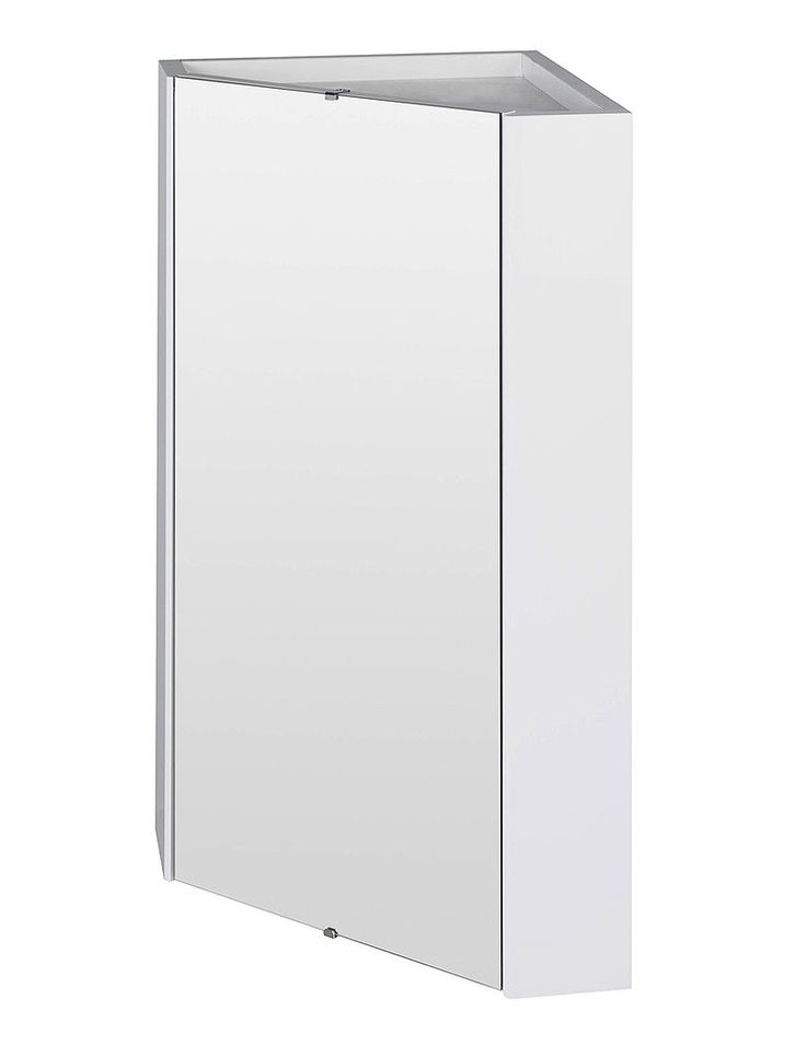 White Wooden Corner Bathroom Cabinets