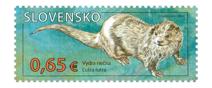 COLLECTORZPEDIA Nature Protection: Protected Landscape Area Polana  River Otter (Lutralutra)