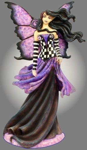 Amy Brown Purple Goth Nouveau Fairy Figurine