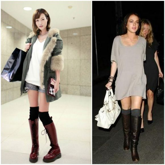 how to wear boot socks trends seen in knee high boots