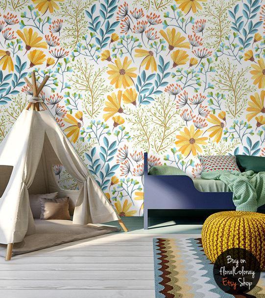 les 25 meilleures id es de la cat gorie papier peint fleuri sur pinterest papiers peints. Black Bedroom Furniture Sets. Home Design Ideas