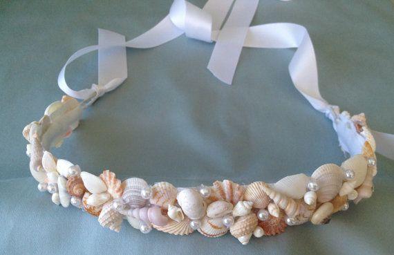 Seashell wedding hair crown Seashell Tiara Beach by LCFloral