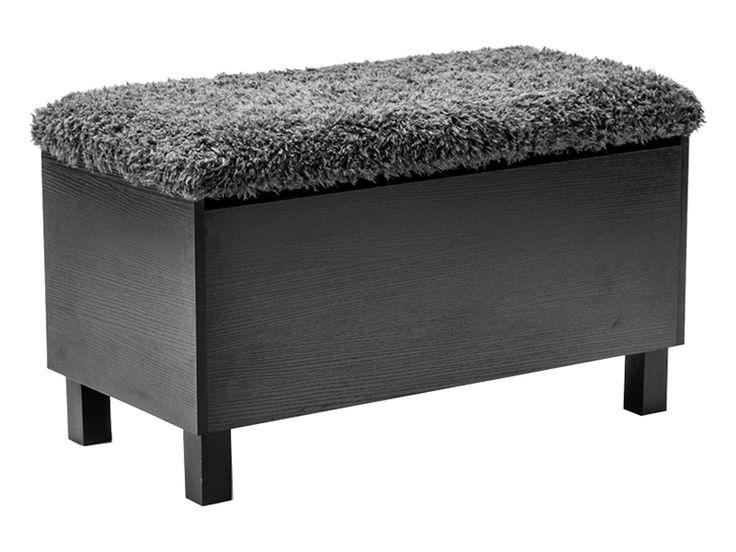 BOX Sittbänk med förvaring Svart i gruppen Inomhus / Förvaring / Hallmöbler hos Furniturebox (100-13-67368)