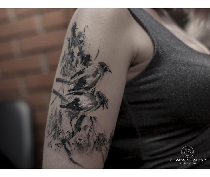 Sumi tattoo, sleeve, inked girl. #valerysharay