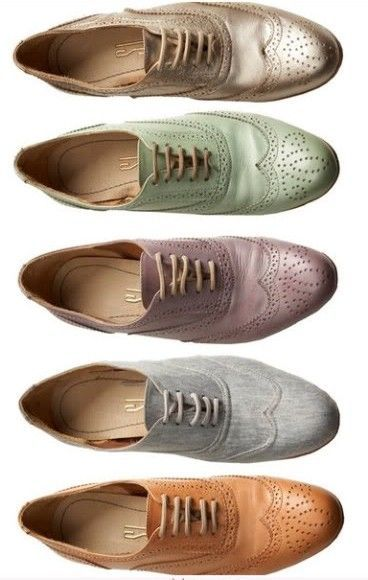 If I could afford a pair of oxfords for every outfit... I would buy a set to match every item of clothing I have.