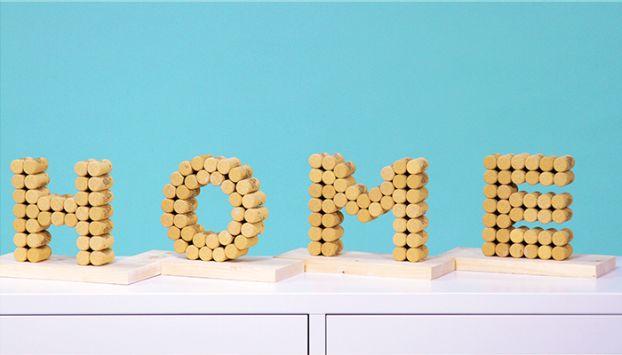 Hacer letras con corcho