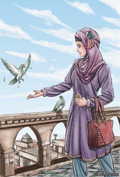 hijab on