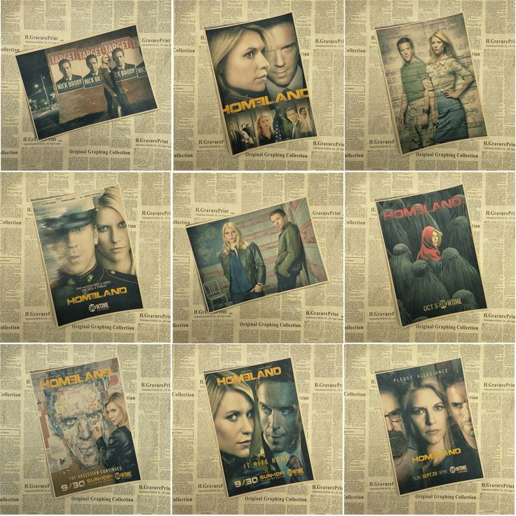 Homeland Movie Seires retro Poster Wall Poster Modern Posters home Bedroom Living room Decor