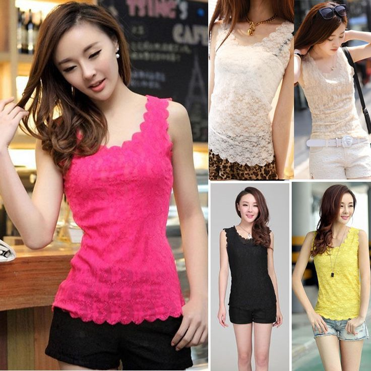 Fashion Women Summer Vest Top Sleeveless Lace Blouse Casual Tank Tops T-Shirt #Unbranded