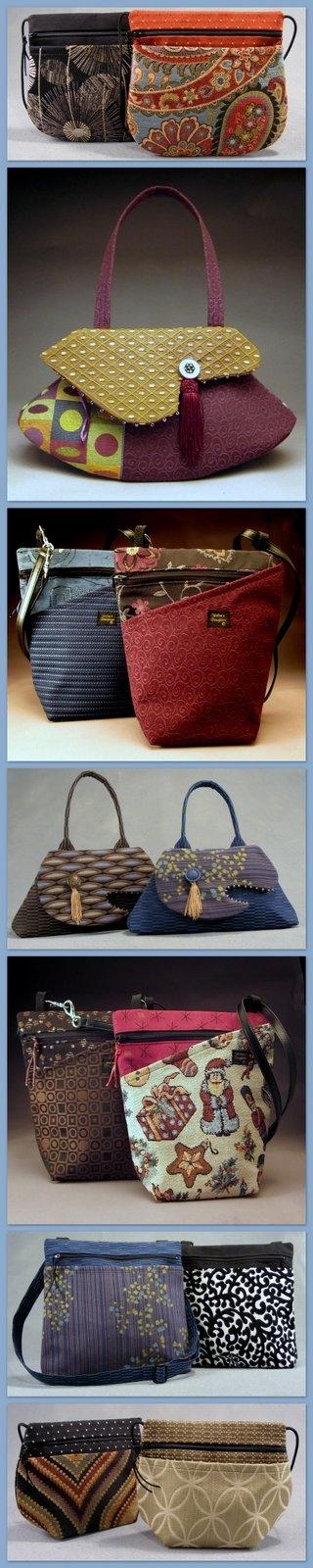 Helen's Daughters Studio - много дизайнерских сумок из ткани, но только картинки