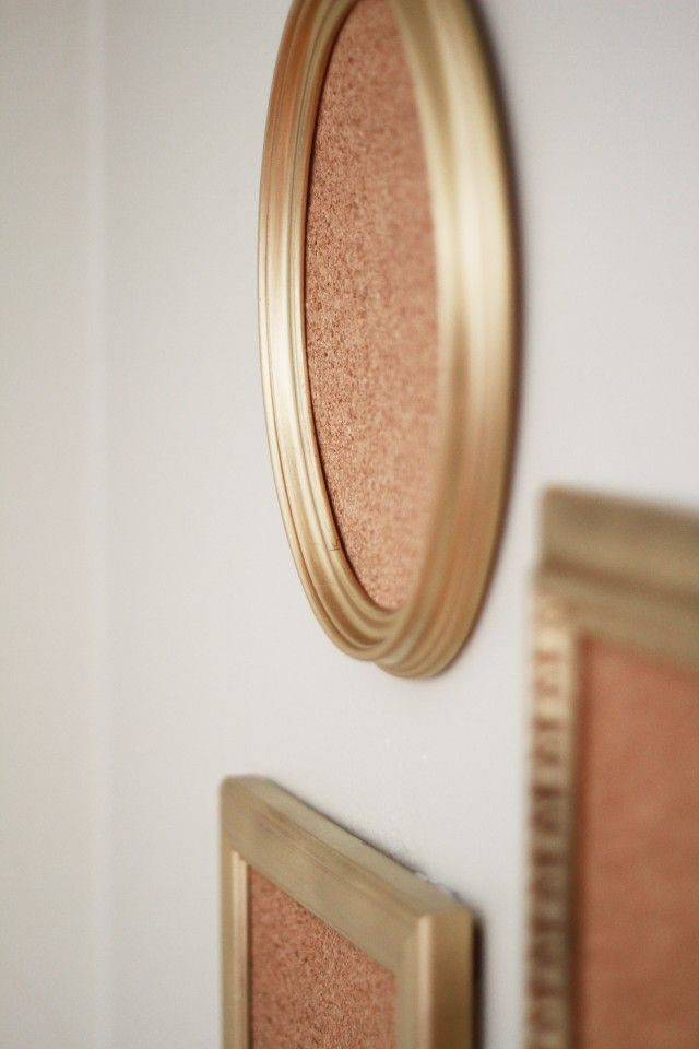 mini framed corkboards... love the idea of gluing magnets on back and putting them on fridge!