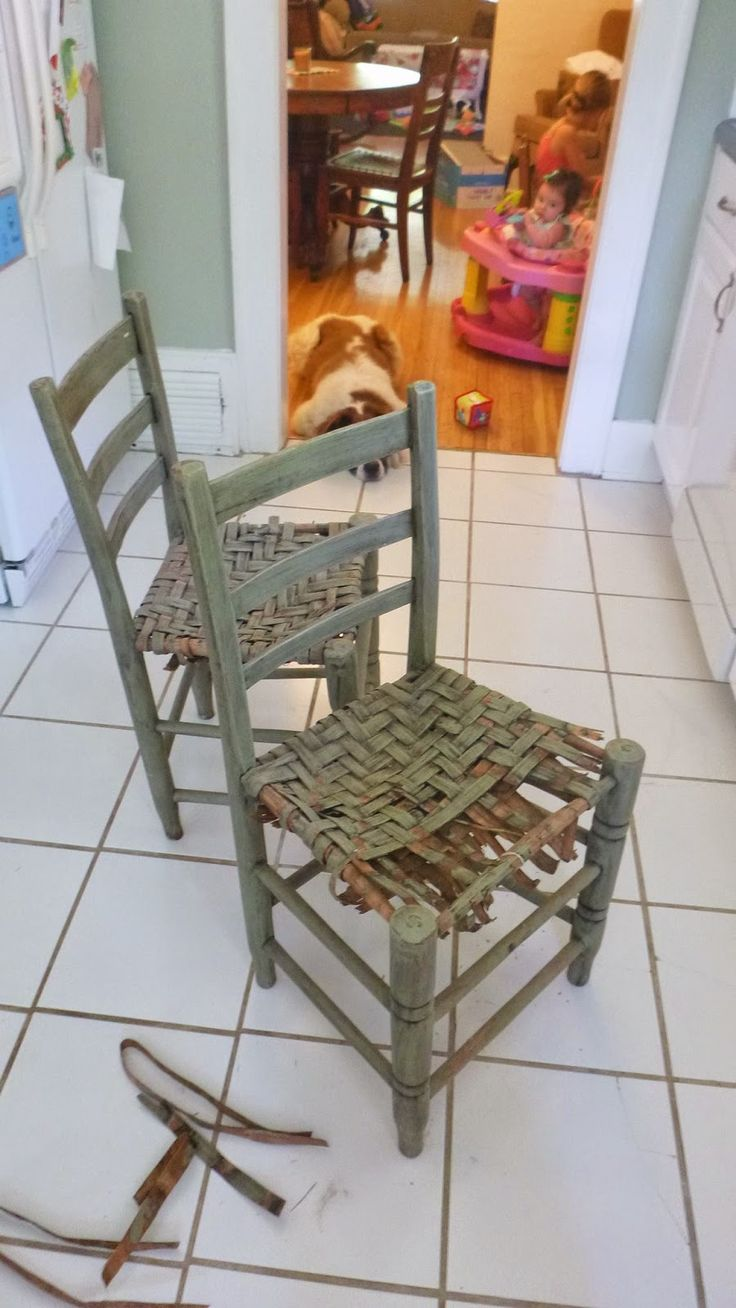 Pennies And Glue Breathing New Life Into Old Chairs Redoing Wooden Weaving