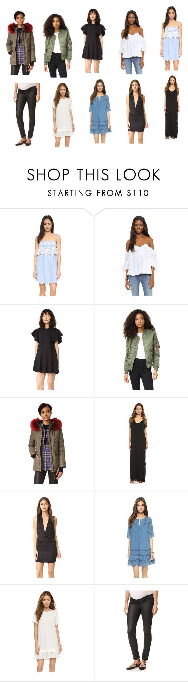 """casual wear dress collection"" by monica022 ❤ liked on Polyvore featuring Love Sam, Caroline Constas, Goen.J, Alpha Industries, SAM., Clayton, Lanston, Clu, DL1961 Premium Denim and vintage"
