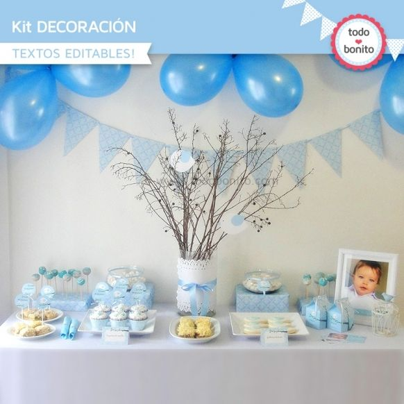 Pajarito celeste: Kit decoración