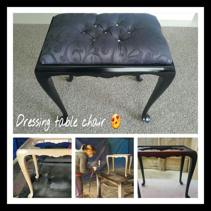 Bedroom stool transformation