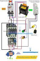 Esquemas eléctricos: Esquema eléctrico maniobra motor bomba