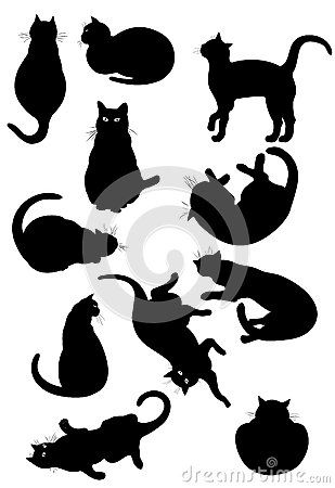 cat silhouette pattern - Google Search