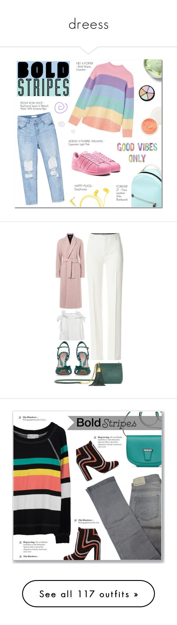 """""""dreess"""" by sebaaldomur-1 ❤ liked on Polyvore featuring Forever 21, Happy Plugs, Christian Dior, adidas, PastelColors, swirl, BoldStripes, supestar, Emilio Pucci and Gucci"""