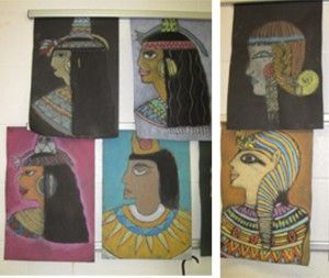 Egyptian Chalk Portrait Art Lesson | My Inspired Class